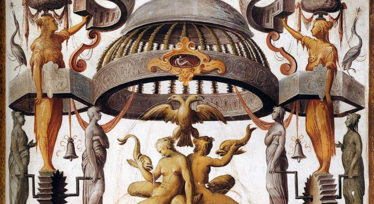 Imagem: Grotesques (Cesare Baglione, 1588, detalhe)