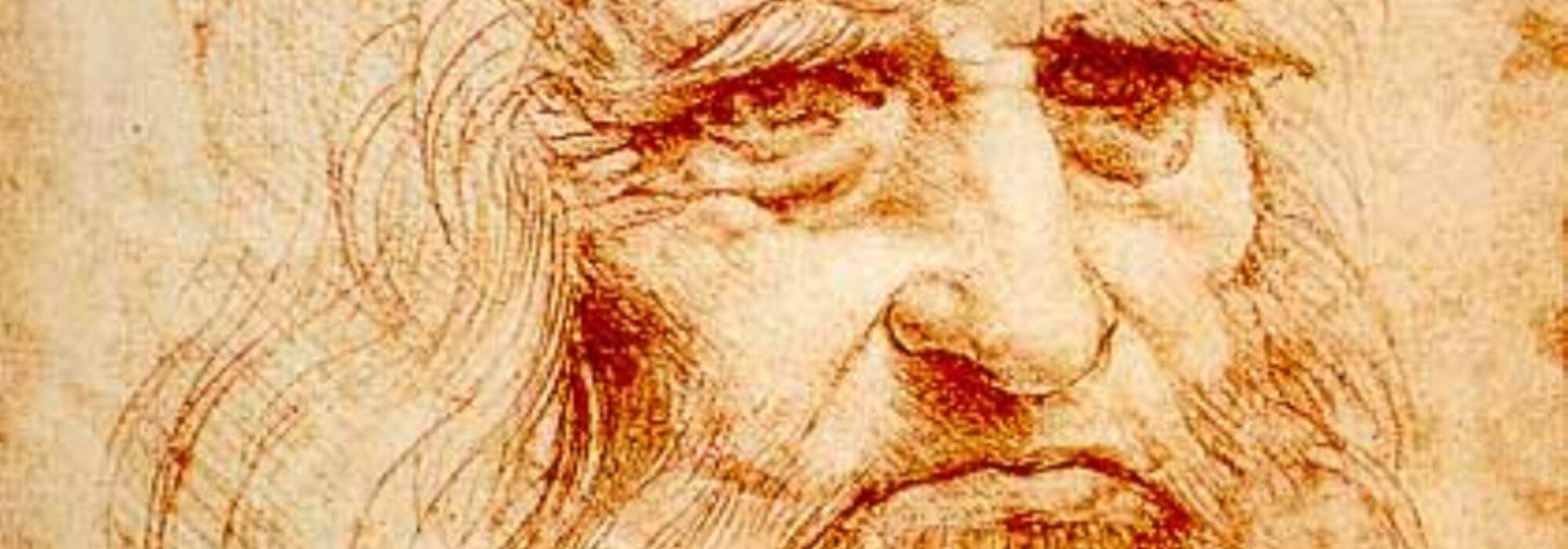 Imagem: Autorretrato de Da Vinci (Da Vinci, 1512/1515, detalhe)