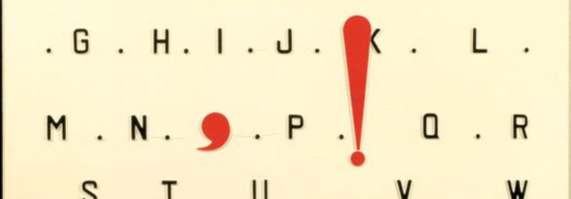 Imagem: Comma & exclamation mark (Marcel Broodthaers, 1970)
